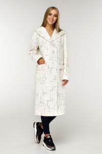 Жіноче пальто «Гарденія» білого кольору