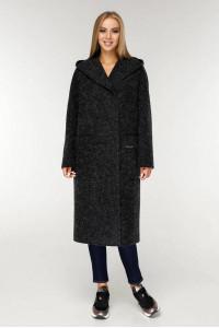 Жіноче пальто «Гарденія» чорного кольору