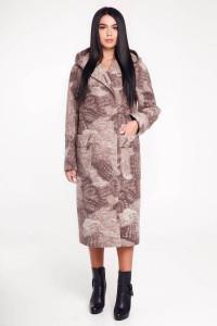 Жіноче пальто «Гарденія» жовтувато-коричневого кольору