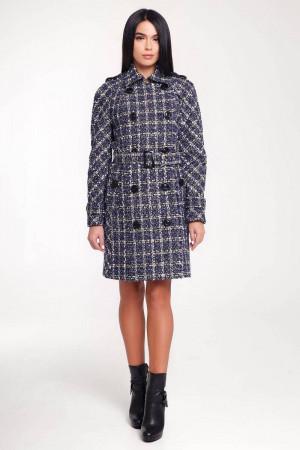 Жіноче пальто «Гарстон» синього кольору