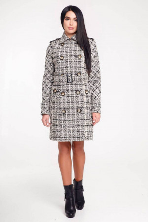 Женское пальто «Гарстон» бежевого цвета