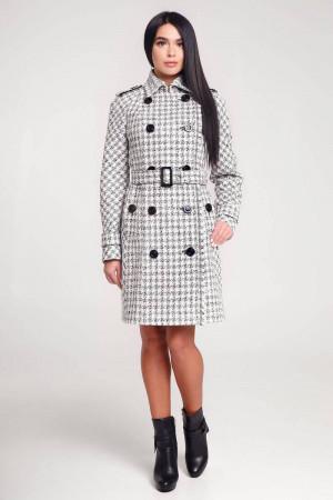 Жіноче пальто «Гарстон» білого кольору
