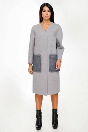 Жіноче пальто «Веріто» сірого кольору