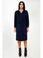 Жіноче пальто «Веріто» синього кольору