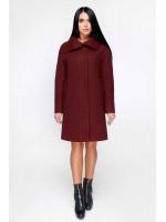Зимове пальто «Дезра» темно-червоного кольору