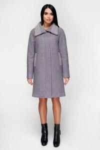 Зимове пальто «Дезра» сірого кольору