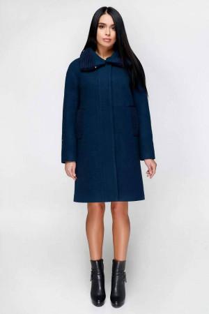 Зимове пальто «Дезра» темного синьо-сірого кольору