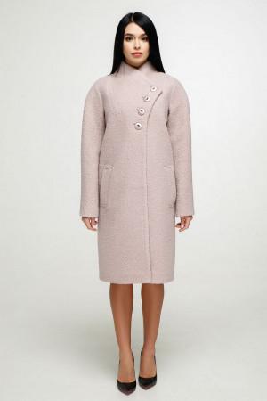 Женское пальто «Джуди» светло-розового цвета