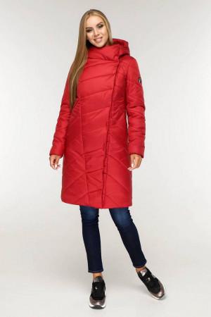Пуховик «Лукка» красного цвета 44 размер