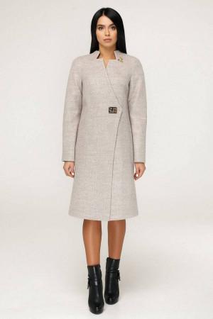 Женское пальто «Бизан» бежевого цвета