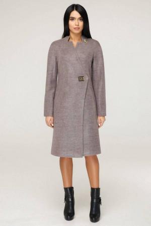 Жіноче пальто «Бізан» бузкового кольору