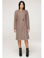 Жіноче пальто «Бізан» жовтувато-коричневого кольору