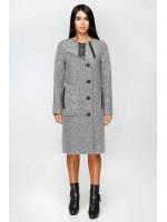 Женское пальто «Лиара» серого цвета