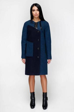 Женское пальто «Лиара» темно-голубого цвета 50 размер