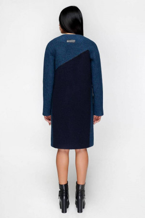Жіноче пальто «Ліара» темно-блакитного кольору