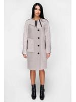 Женское пальто «Лиара» бежевого цвета