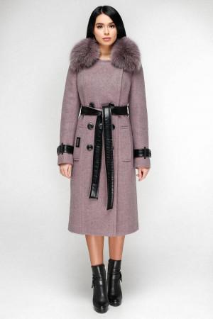 Зимнее пальто «Борей» сиреневого цвета