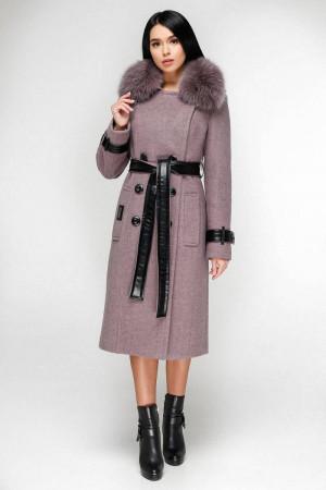 Зимове пальто «Борей» бузкового кольору