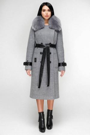 Зимове пальто «Борей» сірого кольору