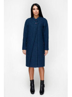 Жіноче пальто «Олаф» синього кольору
