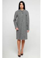 Жіноче пальто «Олаф» сірого кольору