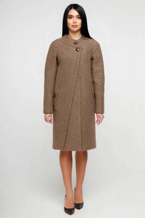 Женское пальто «Олаф» коричневого цвета
