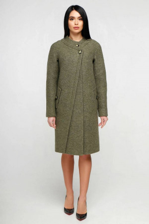 Жіноче пальто «Олаф» зеленого кольору