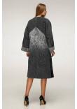 Жіноче пальто «Санса» сірого кольору 54 розмір