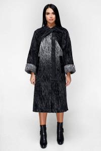 Жіноче пальто «Санса» чорного кольору
