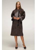 Женское пальто «Санса» коричневого цвета