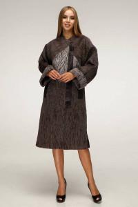 Жіноче пальто «Санса» коричневого кольору