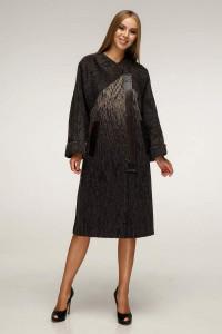 Жіноче пальто «Санса» темно-коричневого кольору