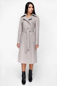 Жіноче пальто «Петті» світло-бежевого кольору