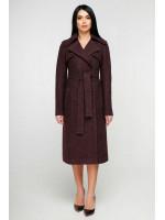 Женское пальто «Пэтти» темно-красного цвета