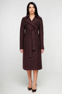 Жіноче пальто «Петті» темно-червоного кольору