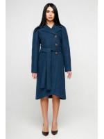 Жіноче пальто «Антра» синього кольору