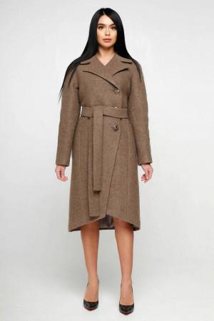 Жіноче пальто «Антра» коричневого кольору