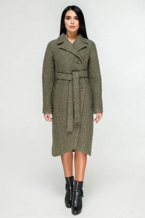Жіноче пальто «Антра» зеленого кольору