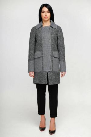 Жіноче пальто «Загреб» темно-сірого кольору