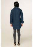 Жіноче пальто «Аміра» синього кольору 48 розмір