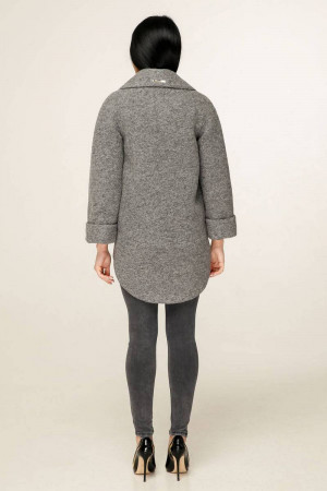 Жіноче пальто «Аміра» сірого кольору
