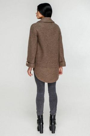 Жіноче пальто «Аміра» коричневого кольору