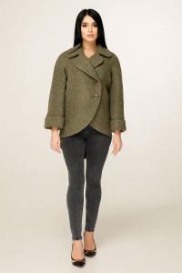 Жіноче пальто «Аміра» зеленого кольору
