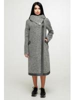 Жіноче пальто «Дарка» сірого кольору