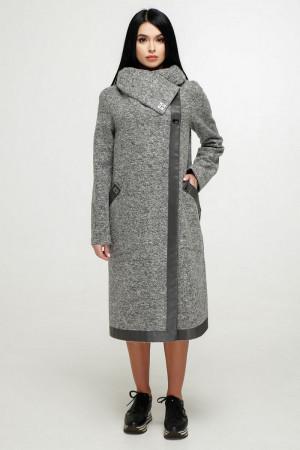 Женское пальто «Дарка» серого цвета
