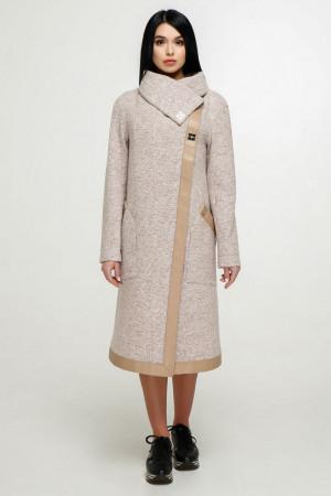 Женское пальто «Дарка» бежевого цвета
