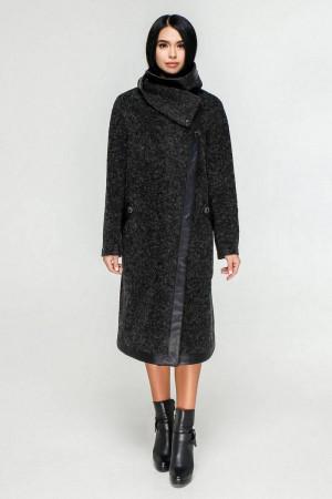 Женское пальто «Дарка» черного цвета