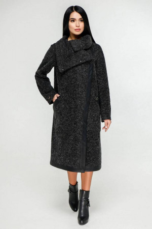 Жіноче пальто «Дарка» чорного кольору