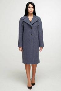 Жіноче пальто «Модрина» графітово-сірого кольору