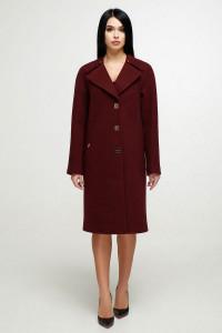 Жіноче пальто «Модрина» темно-червоного кольору